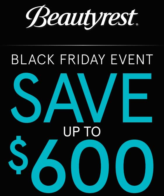 Save up to $600 on select Beautyrest mattress sets