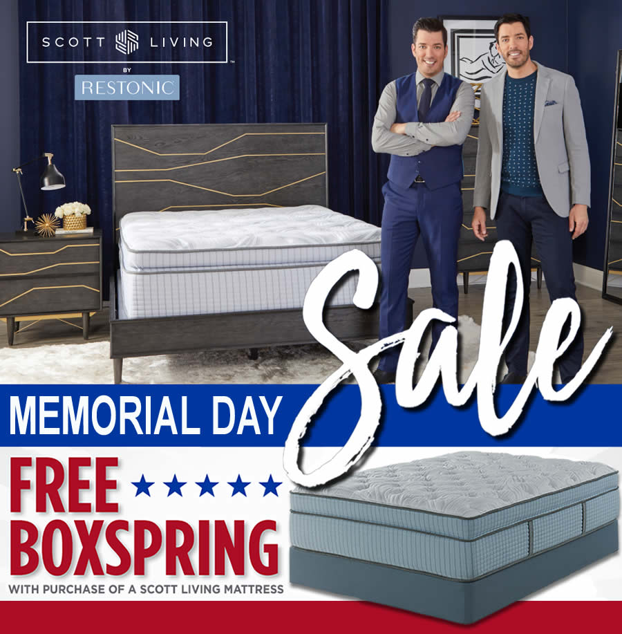Scott Living by Restonic Memorial Day Mattress Sale