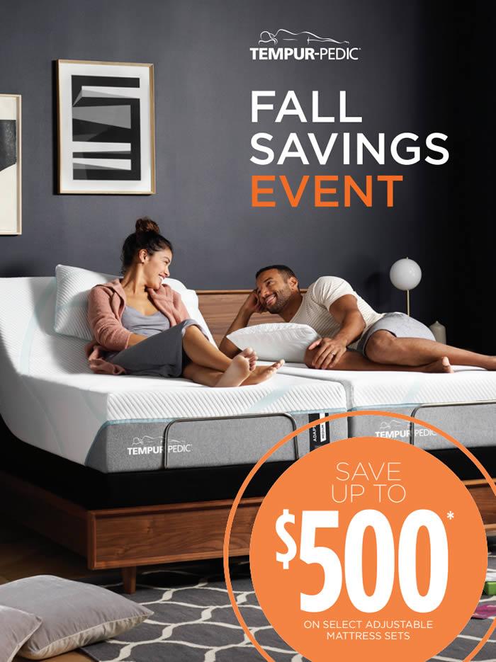 TempurPedic Fall Savings Event