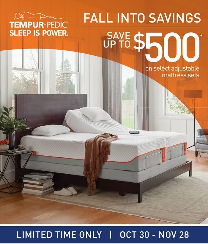 TempurPedic Fall into Savings Event